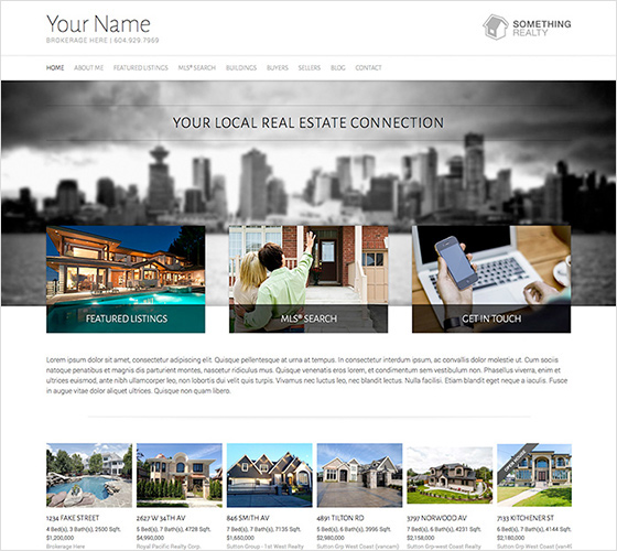 Realtor website theme - responsive