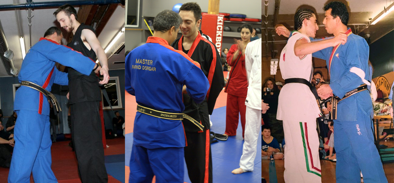 From L to R: Casimir, Ramin, and Sepy testing for Black Belt.
