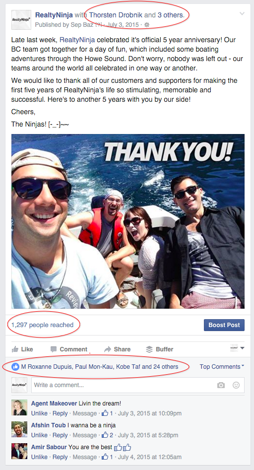 Our personal posts always get the most engagement!