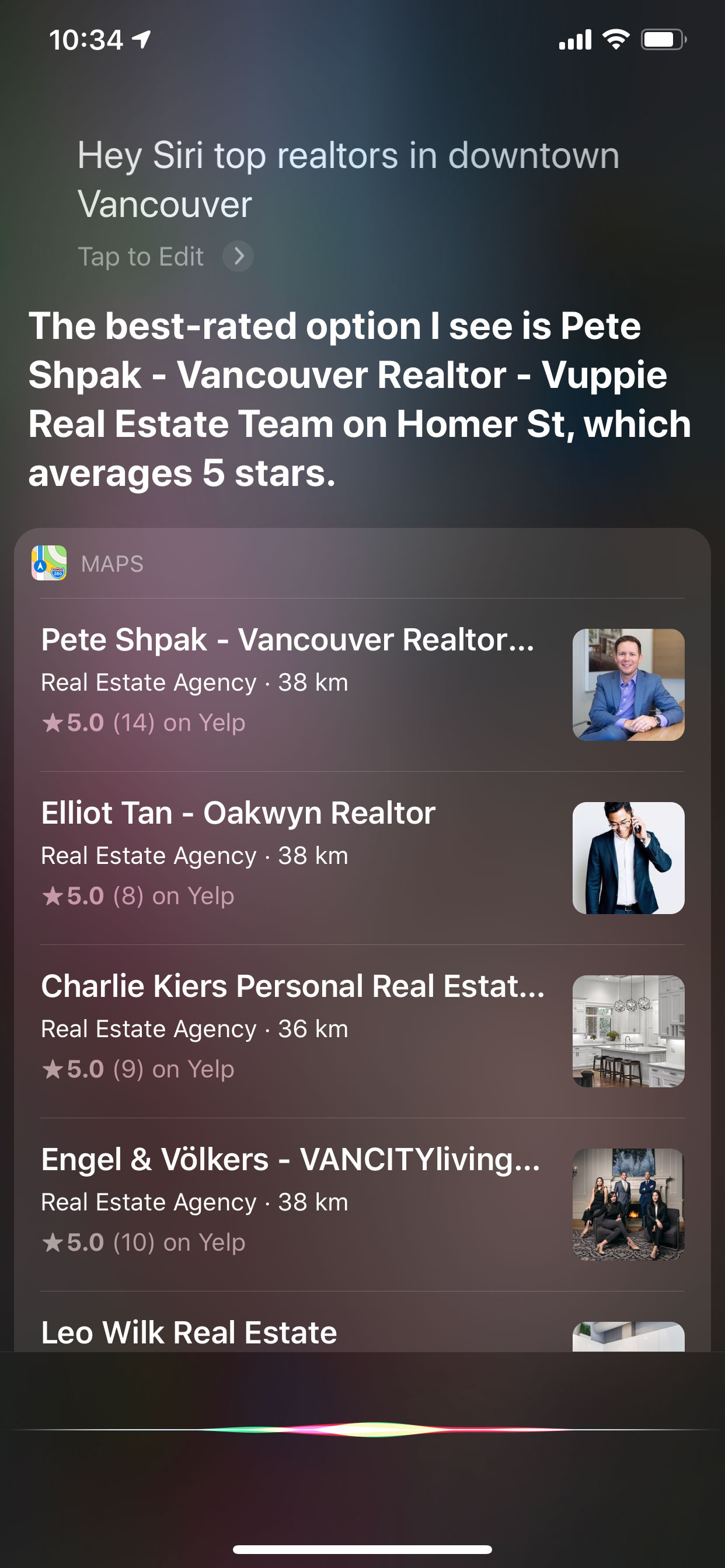 Voice Search - Top Realtors in Downtown Vancouver