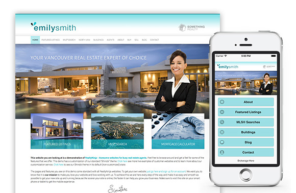Dedicated Mobile Website by RealtyNinja