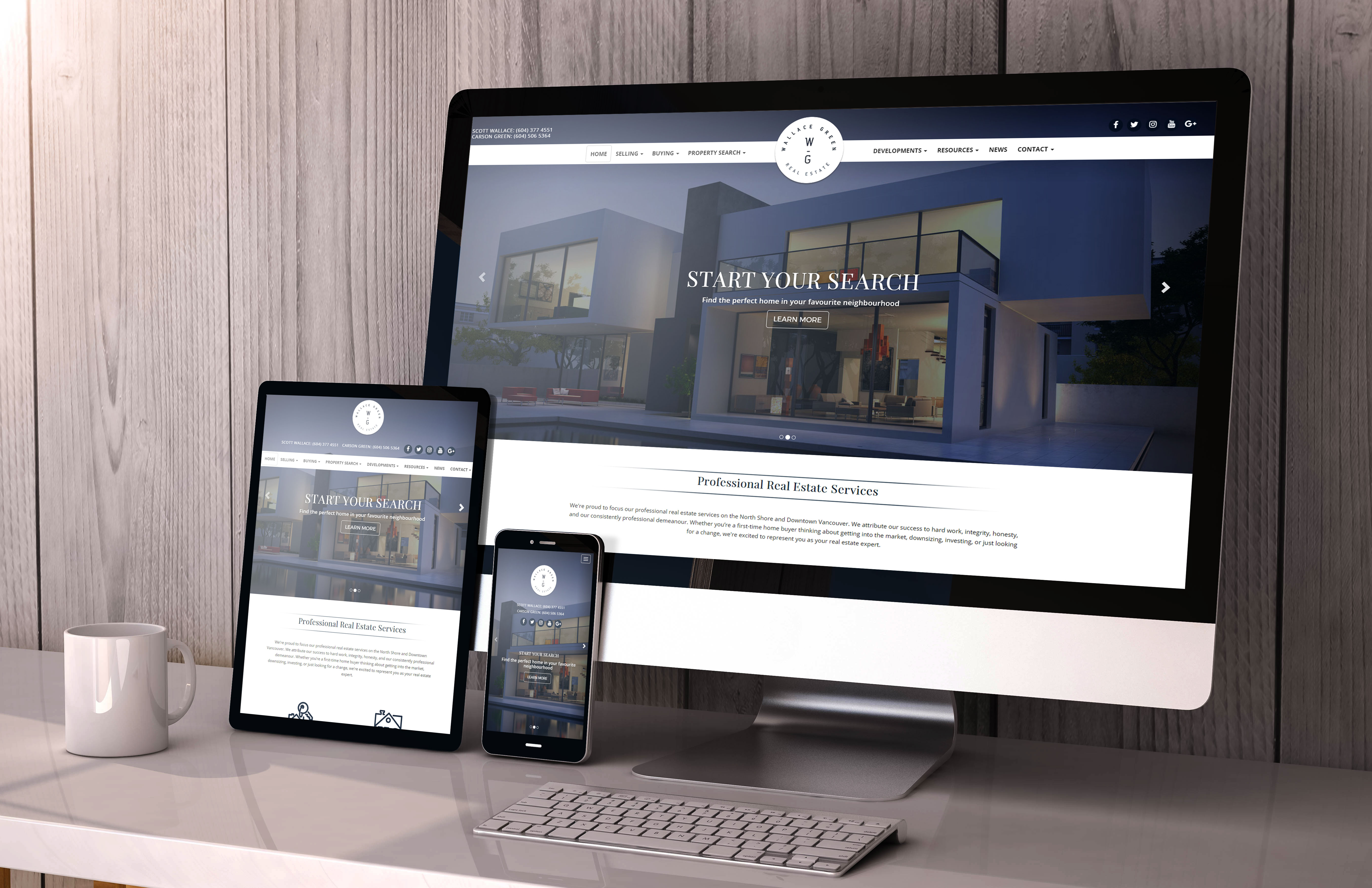 The Wallace Green real estate team site looks awesome on any device