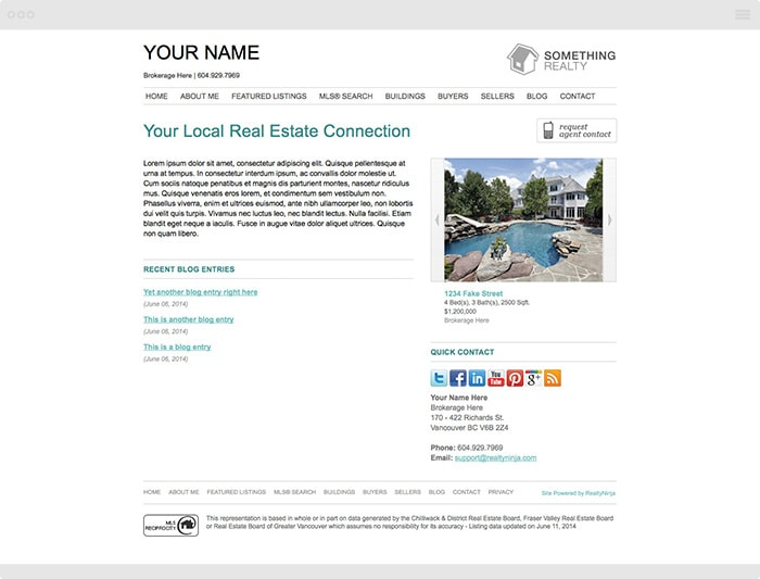 Clean Realtor Website Theme