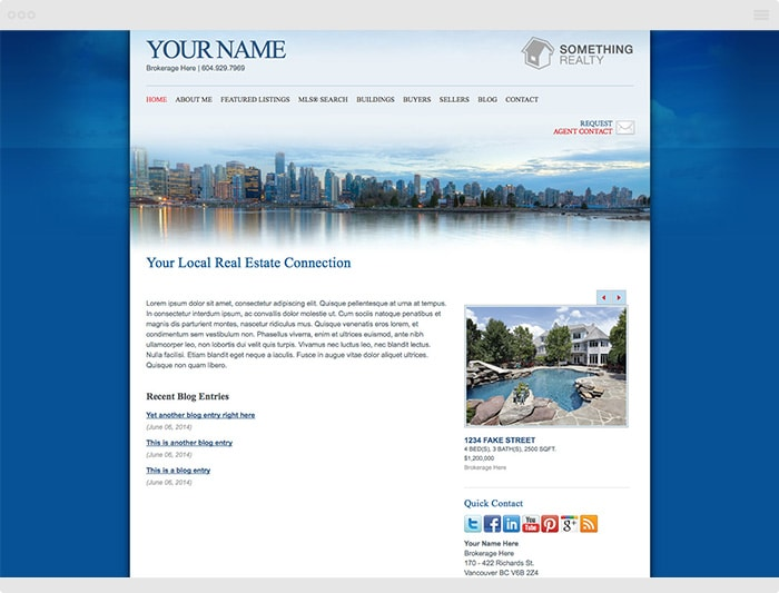 Crisp Realtor Website Theme