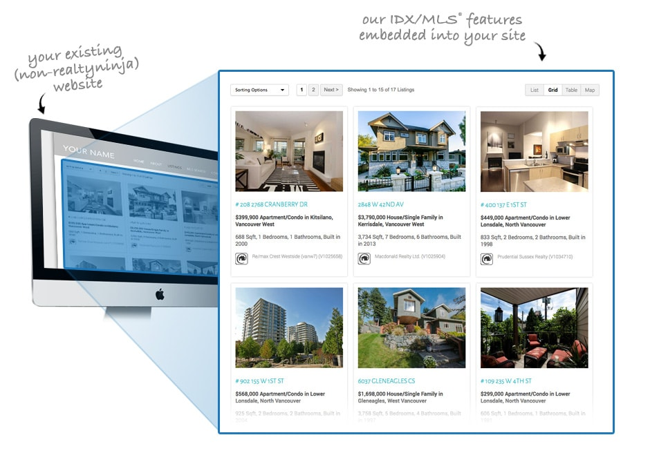 Listings-Only (IDX/MLS®) Example