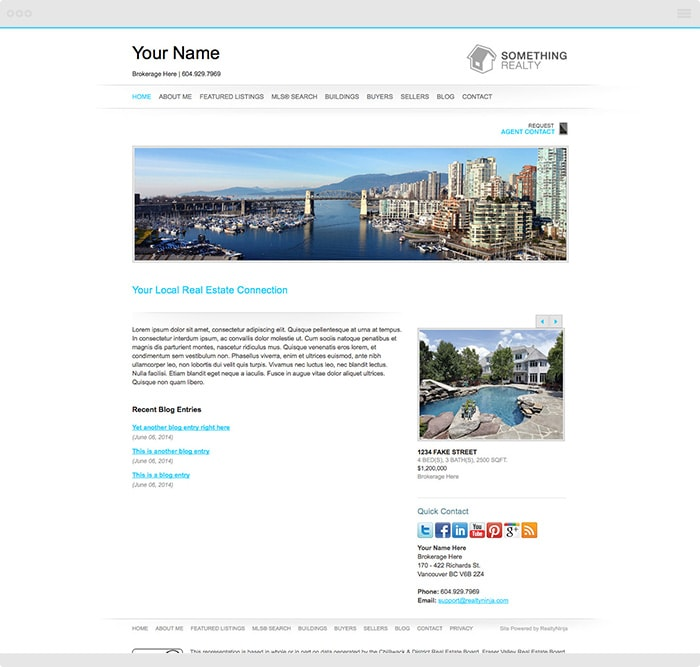 Modern Realtor Website Theme