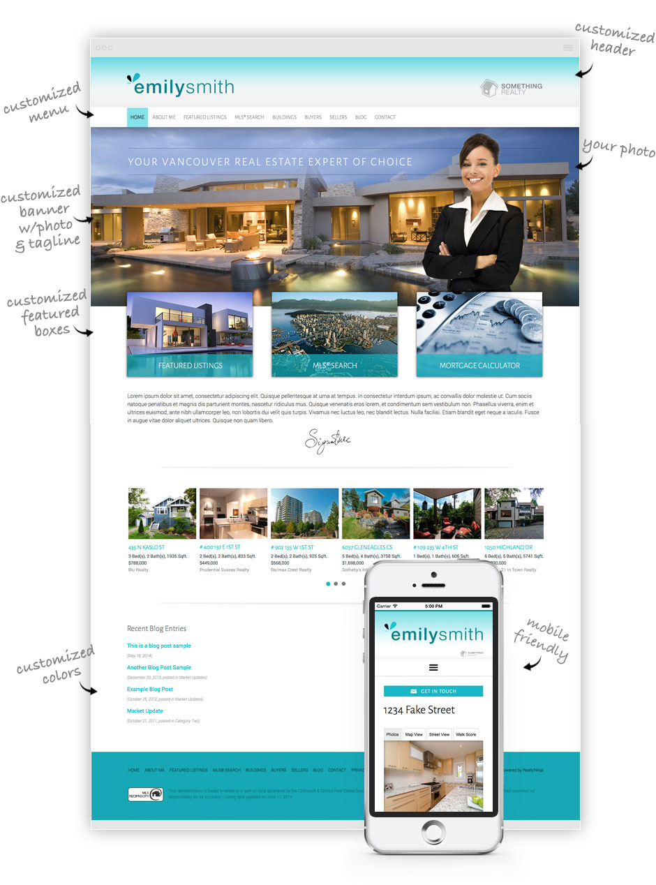 Realtor Website Example
