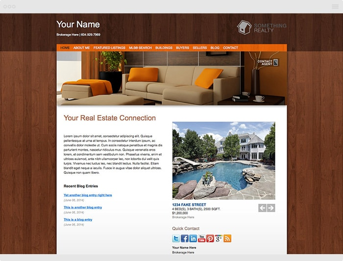Stylish Realtor Website Theme